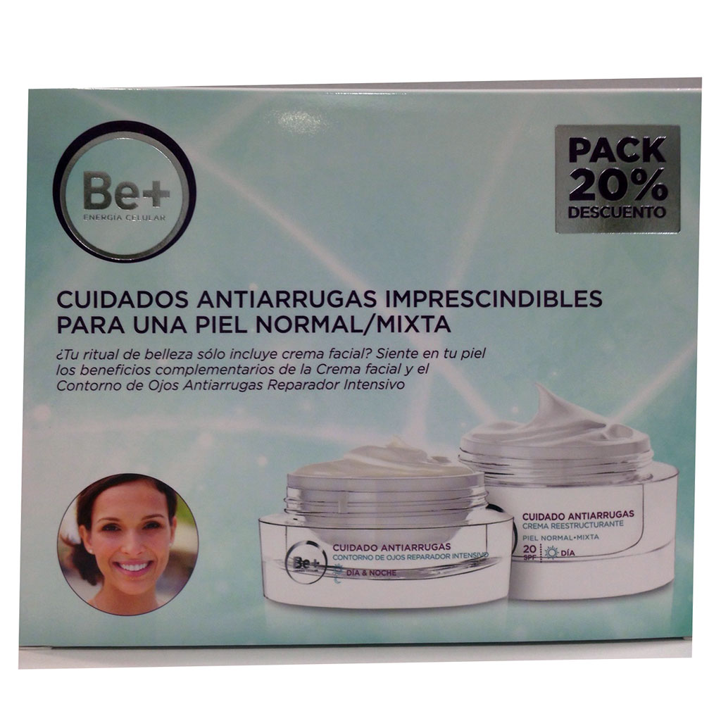 Cuidado Facial + Contorno de Ojos BE+ - Farmacia Veronica Aznar Alicante